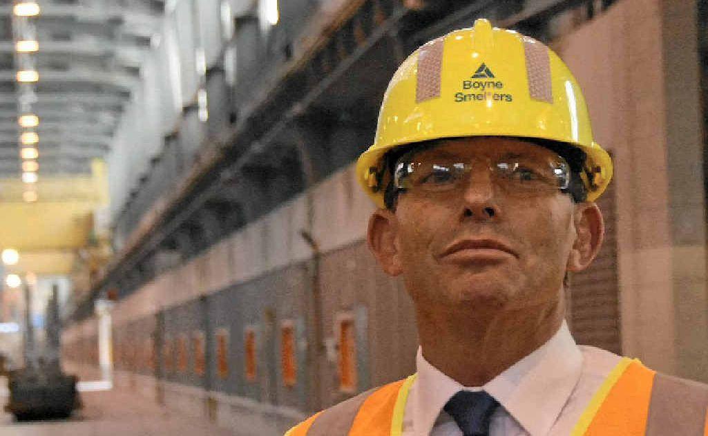 Tony Abbott at the Boyne Smelter