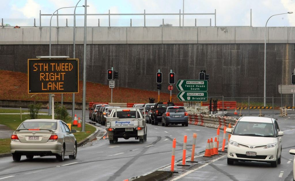 Motorists have been assured congestion around Banora Point road works will be eased when the project is completed.