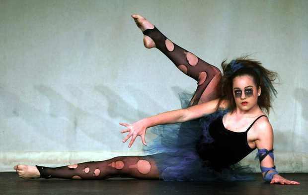 April Stoddart competes in the under 14 contemporary dance section.