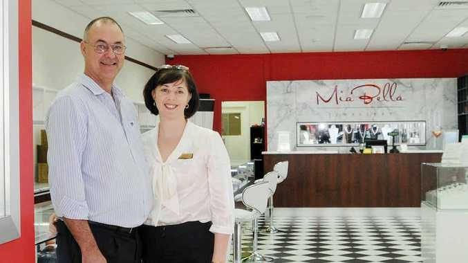 David and Carissa Bell in their new store, Mia Bella Jewellery, which opened last month at 50 Mary St.