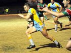Devils' centre Danny McMah hits a hole on against Nambour on Saturday night