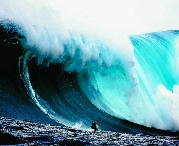 Big wave rider Mark Visser puts thought into action and takes on another giant.