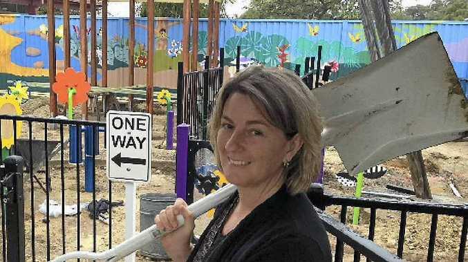 Rosella Park School P&C; president Lisa Lowe says last year's Botanic to Bridge raised valuable funds for the school's new sensory garden.