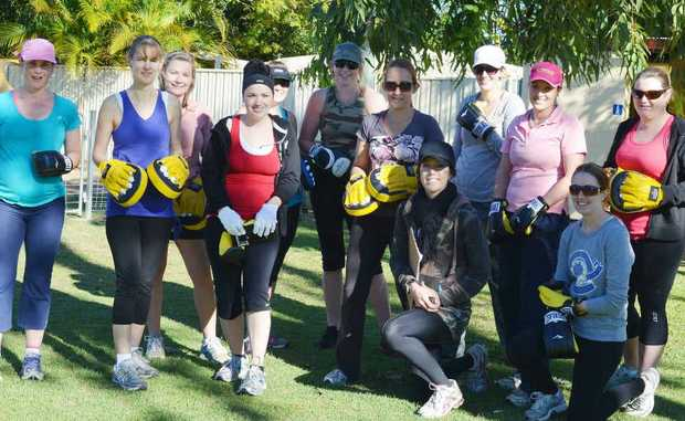 The Mum-e-Fit group comes together on Tuesday and Friday for a morning of fitness with trainer Alena Bidgood.