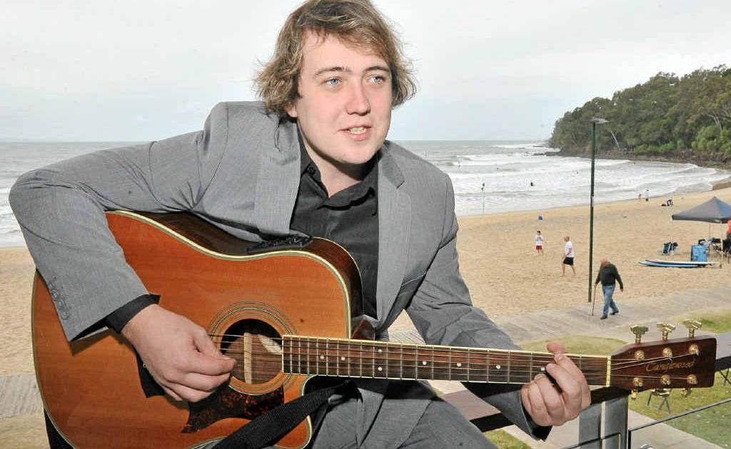 Andrew Lawson warms up for the Noosa Jazz Festival. He is hosting the talent quest at this year's festival.
