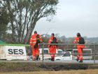 SES workers head back to base camp after their latest search.