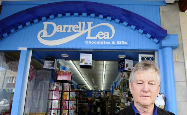 Grafton Darrell Lea Chocolates and Gifts' Colin Bagnell co-owns the store with his wife Frances.