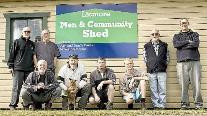 The Lismore Men and Community Shed blokes are preparing their shed for opening later this year.