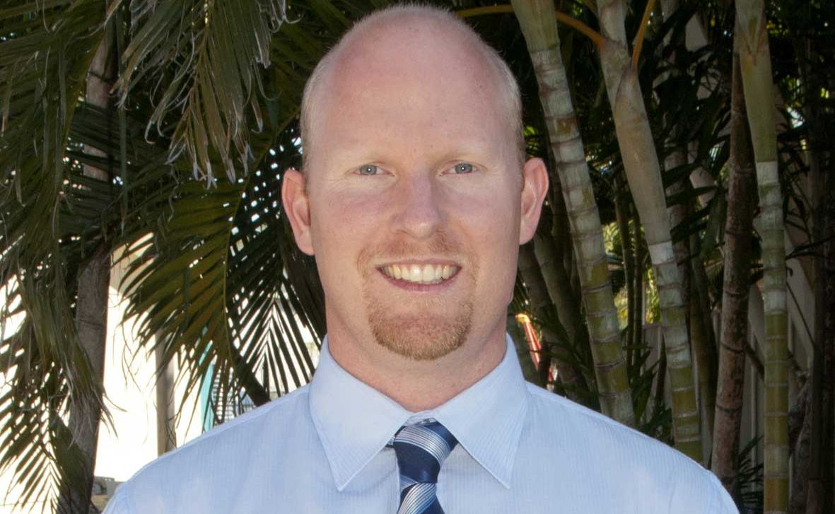 NATHAN McDonald was excited about school starting back at the Whitsunday Christian College, as Monday was his first day as principal at the school.