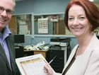 Prime Minister Julia Gillard after she signed the CQ NRL Bid petition in Rockhampton yesterday.