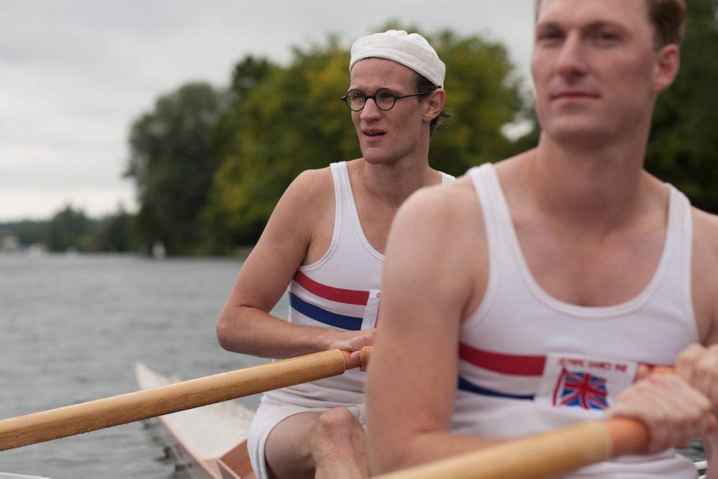 Matt Smith, left, and Sam Hoare star in the BBC telemovie Going for Gold (UK title Bert & Dickie).