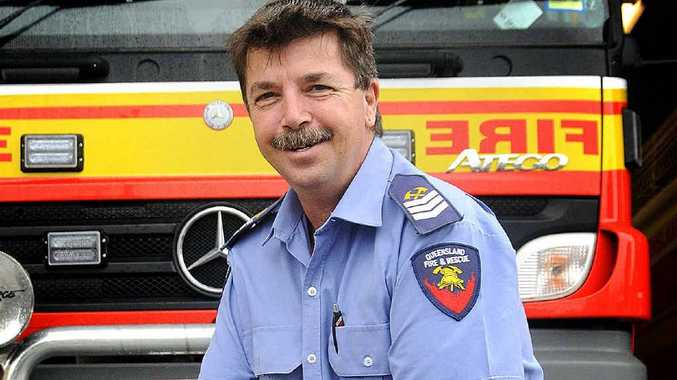 Gympie Senior Firefighter Bill Edgar was recognised for 25 years of service.
