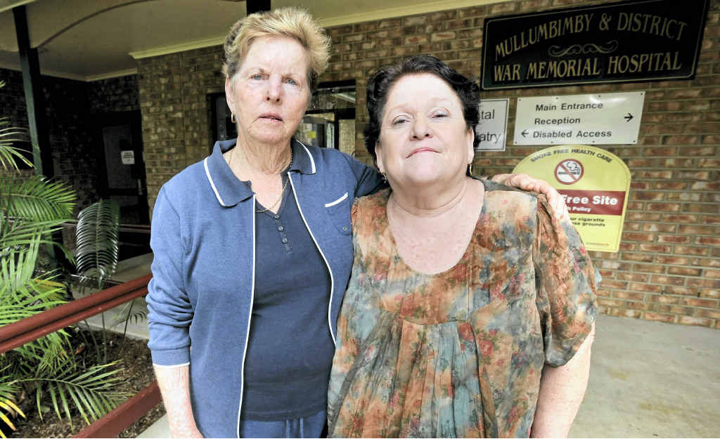 Janine Slater and Gill Lomath have had a long association with Mullumbimby Hospital and vow to work their hardest to keep the services for the community.