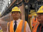 Tony Abbott visits Boyne Smelter.
