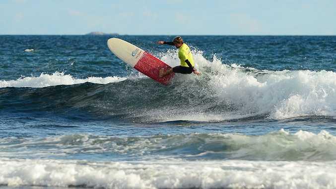 Emerald Beach local Harley Ingleby at the Whalebone Classic on Western Australia's Cottosloe Beach.