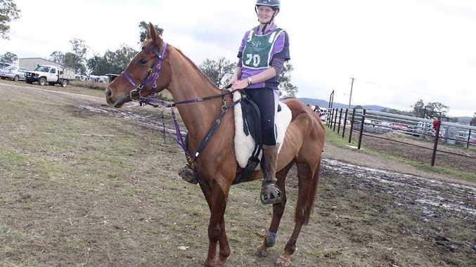 Endurance rider Hannah McQueen on Lara's Song.