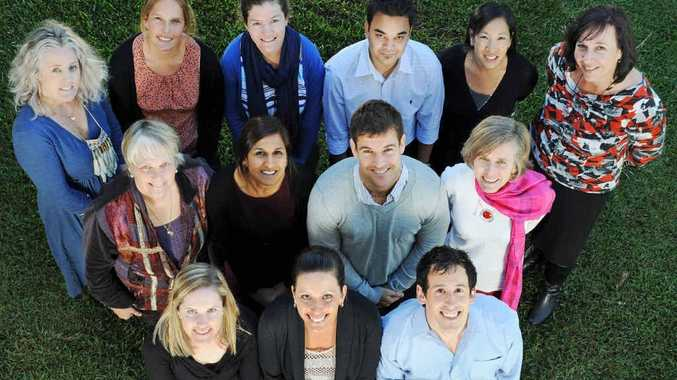 (Back row from left) Frances Barraclough, Caydee Pollock, Hailey Lawry, Saleem Hasan Chowdhury, Thi'anh Smith, Karen Wilson; (middle row) Dr. Jane Barker, Naomi Piyaratna, Luke Dan, Libby Kelly; (front row) Hannah Walker, Jamie Tape and Ben Hill at the University Centre for Rural Health in Lismore.