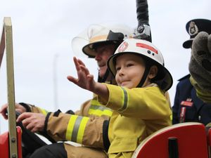 Wish granted for junior fireman