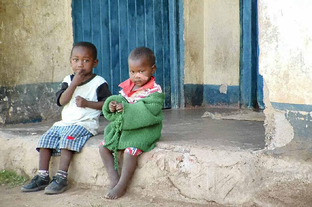 Two of more than 40 orphans at the Kakamega Church in Kenya.