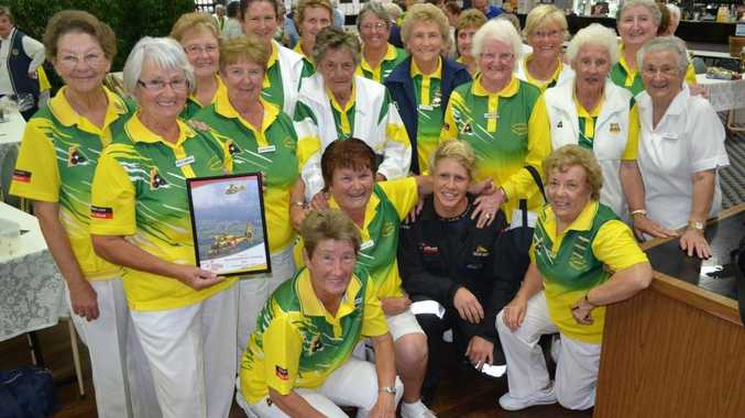 WELL LOVED: Evans Head Ladies Bowls Club took a liking to Rescue Crew Officer Tom Lee Lewes who was very grateful for the $3,300 they raised at their charity day. Photo Samantha Elley / Rivertown Times