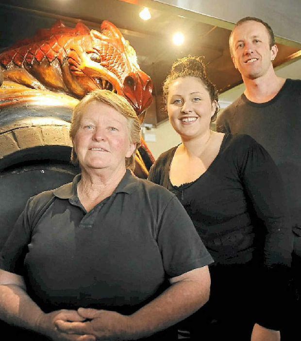 ON FIRE: Award-winning Fire in the Belly owner Tracey Krahenbring (far left) and supervisors Emma Dillon and Evan Whittington.