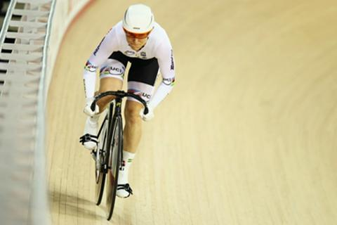 Anna Meares has finished fifth in the final of the women's keirin.