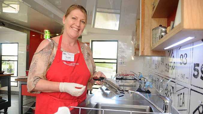 Volunteer Susan Cluff, of Buderim, helps keep things bubbling.