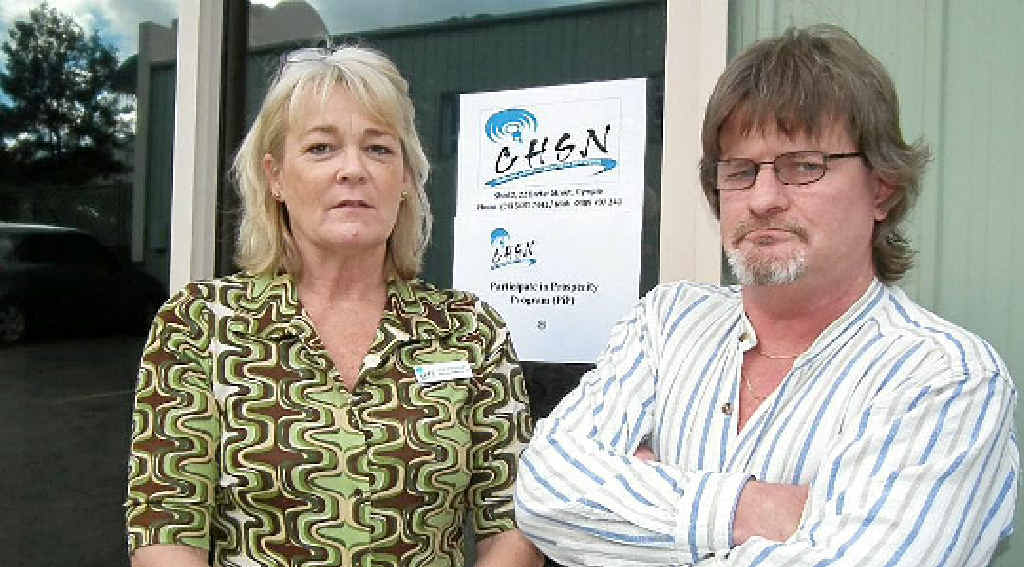 Case manager Lee Prince and unemployed Gympie resident Shane Taylor are devastated the local program funded by the Skilling Queenslanders for Work initiative has been axed.