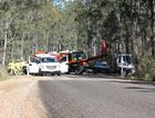 A 21-year-old Hervey Bay man was killed in a single-vehicle crash on Gin Gin-Mt Perry Rd on Saturday morning.