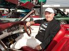 Ray Wills in his deam car at the 2012 Pacific Ford Car Show.