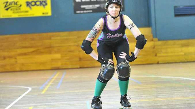 HEAVY HITTER: Emma Johnstone, AKA Candy Contusions, reckons she's done more damage than she's received.