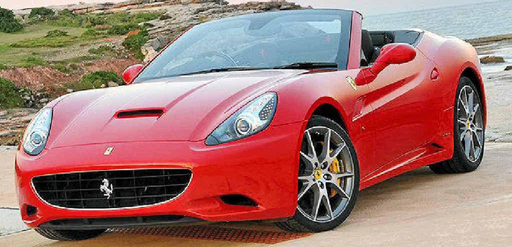Ferrari California HELE has brilliant acceleration and cornering.