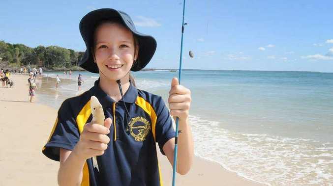 Emily Brantz caught this whiting at the Rainbow Beach Family Fishing Classic.