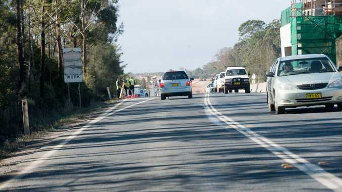 Police continue to gain evidence at the scene of an earlier fatal highway accident at Emerald Beach.