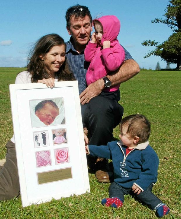 RAISING FUNDS: Catherine and Graham Black with Rose, 2 and Sam, 1 (William, 7 was at school). Their daughter Julia was stillborn in 2007.