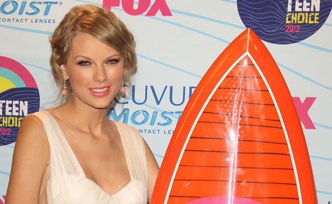 Taylor Swift at the Teen Choice Awards.