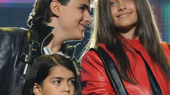 Prince Michael, 15, Paris, 14 and 10-year-old Blanket Jackson.
