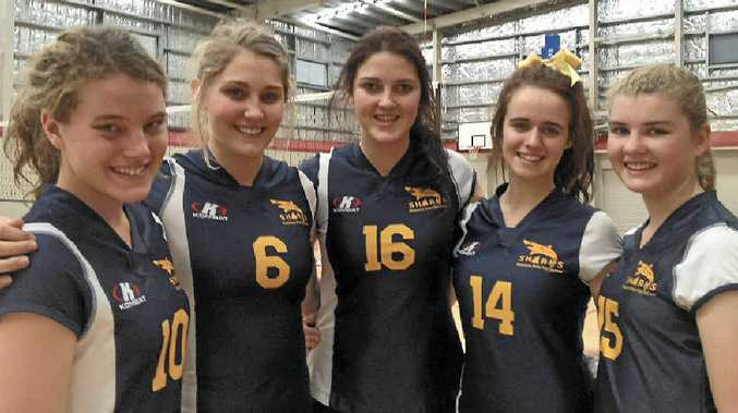 Monique McDiarmid, Rebekah Pearce, Skye Calvert, Katie Connolly and Kaitlin Evans competed in the National Junior Volleyball Championships.