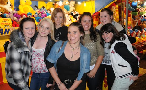 FUN OF THE FAIR: Amber Jayde, Zina Greenall-West, Tasha May, Tayla Gillespie, Madison Gillespie, Makayla Zabel and Tara Nugent enjoy sideshow alley at the Gatton Show on the weekend.