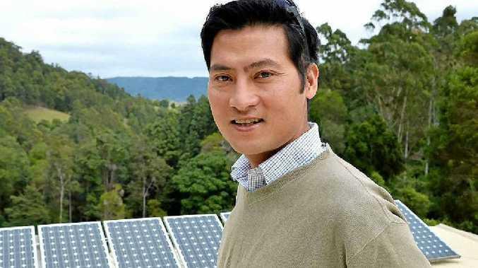 GREEN LIVING: Anton Nguyen at his Billen Cliff property.