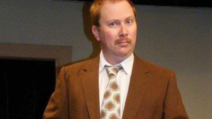 Jason Smith as Basil Fawlty in the 2012 Lismore Theatre Company production of Fawlty Towers.
