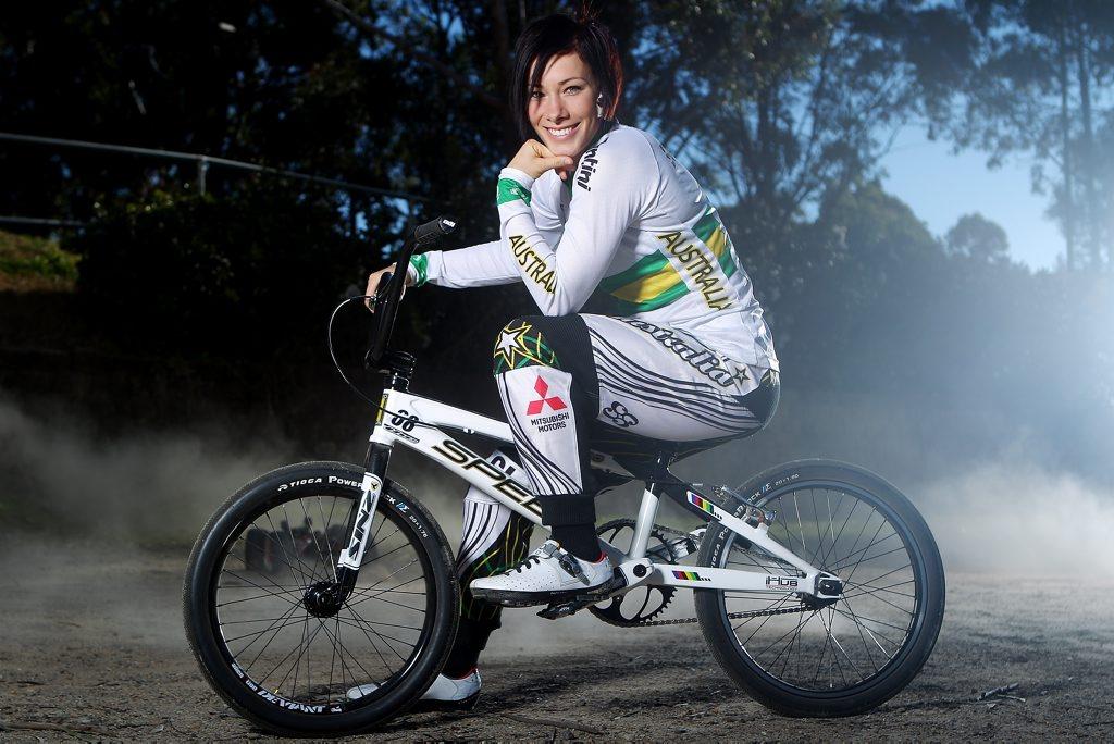 Caroline Buchanan has taken the top seed in the women's BMX time trial.