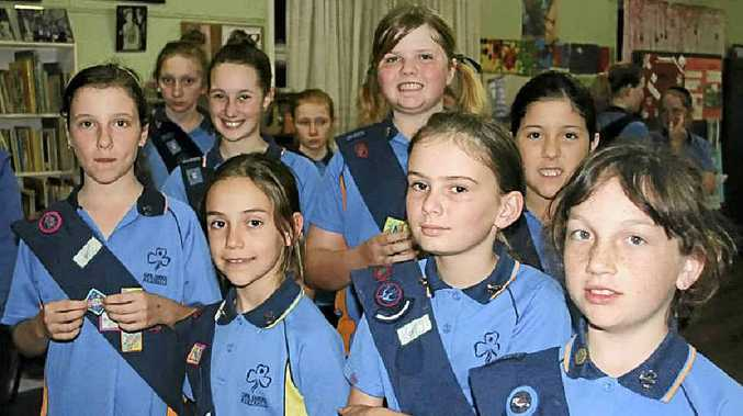 There were awards all around for dedicated 1st Gympie Girl Guides on Tuesday night.