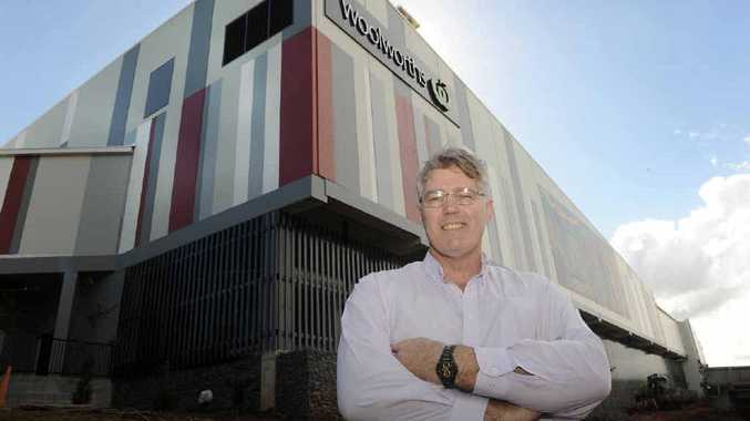 Retail manager David Griffiths stands proudly outside the new Woolworths Centre at Goonellabah.