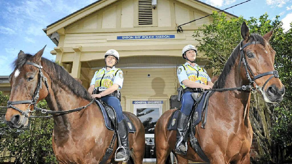 Senior Constable Sam Ennion and Senior Constable Kerstin Nowak at the Byron Bay Police Station.
