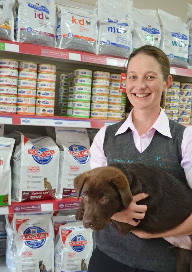 Vet Phillipa Rich said pets needed a healthy diet.