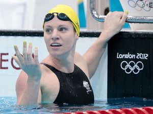 Olympian spends 33 hours in the pool to promote safety