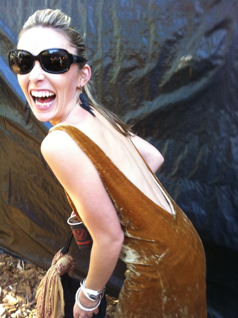 Clare Sweetnam from Byron Bay wearing Byron Bay based designer, Amilita.