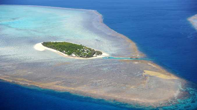 Aerial view of Heron Island.