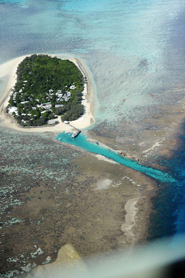 Aerial View of Heron Island.